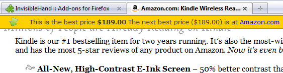 Invisible hand Amazon