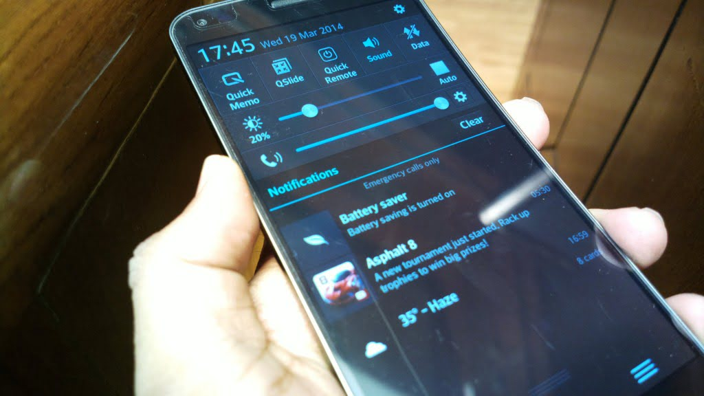 LG G Flex Notification