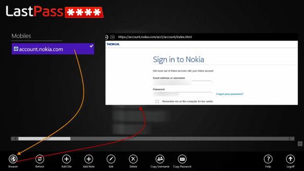LastPass Windows 8 App