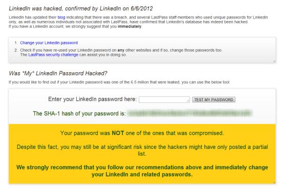Linked In Lastpass Password Checker
