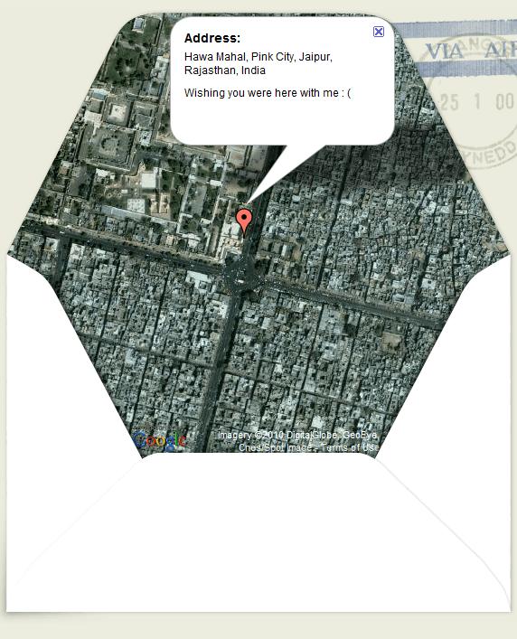 Map on Envelope