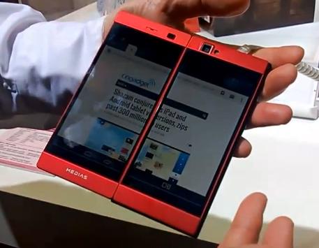 NEC Phablet Dual Screen