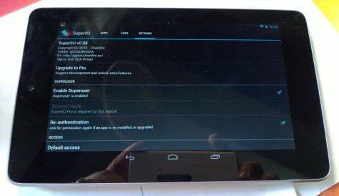 Nexus 7 Rooted Super User
