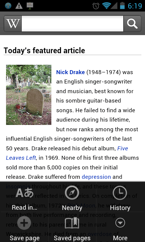 Official Wikipedia for Android