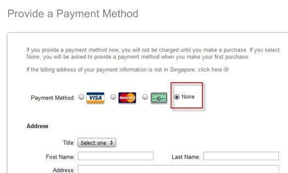 Payment Method iTunes Account