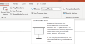 Presentation Two monitors PowerPoint