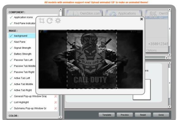 Pro Theme Creator with Basic Image Editor