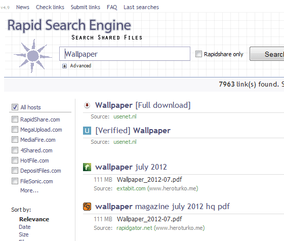 Rapid Search Engine