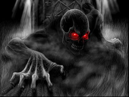 Red Eyed Skull : Scary Halloween Wallpaper