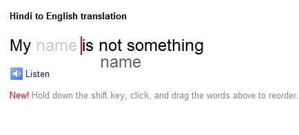 Reorder Translated Words in Google Translate