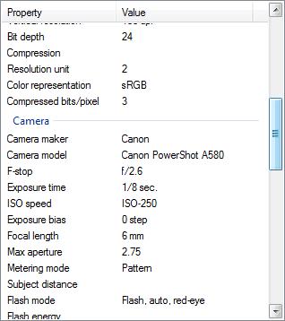 Sample Exif Data