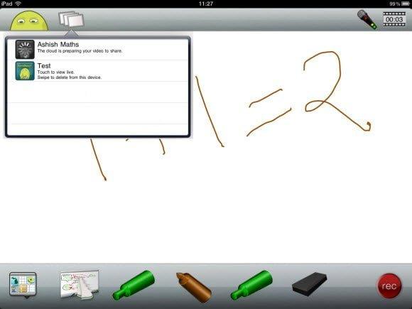 ScreenChomp Screen Recorder for iPad