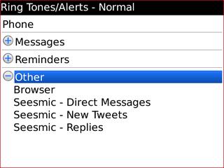 Seesmic Ringtone Alert