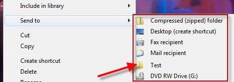 Send to menu in Windows more productive customize