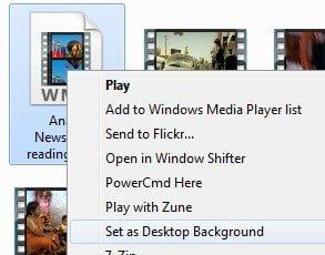 Set as Desktop Background