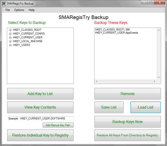 Smart Registry Backup Tool