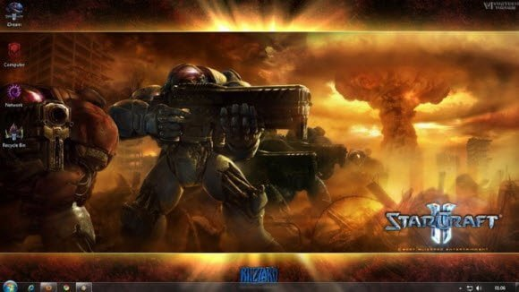 Starcraft 2 Windows 7 theme