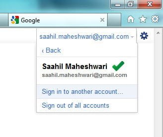 Switch Accounts in Google Accounts