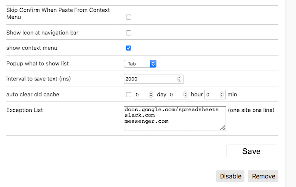 Autosave forms data
