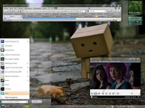 Transparent Theme Windows 7 MacOSX