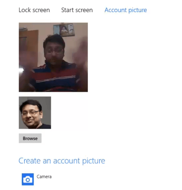 Video in Windows 8 Account Picture