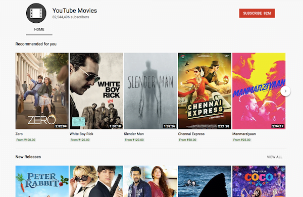 Watch Full Length Movies on YouTube for Free