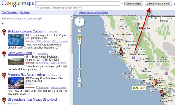 Whats around here google maps