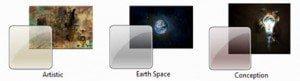 Windows 7 Artitic Earth Space Conception Theme