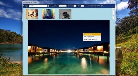 Windows 7 Login Changer Picasa Flickr