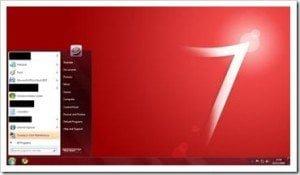Windows 7 Red theme