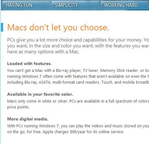 Windows 7 vs Mac