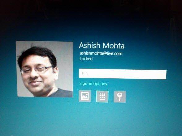 Windows 8 Account Login Multiple Password