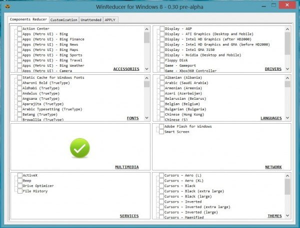 Windows 8 Custom Installation Options
