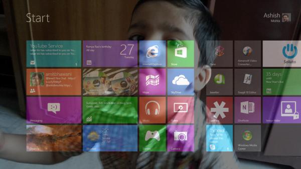 Windows 8 Start Screen Background
