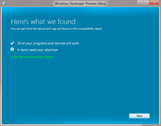 Windows 8 Upgrade Compatibility Mode