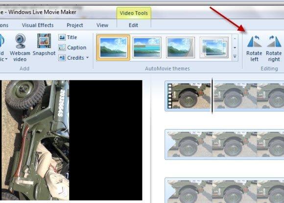 Windows Live Movie Maker Rotate Videos