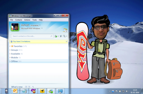 Windows experience Desktop and Messenger