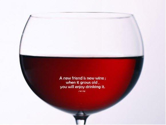 Wine Friendship Wallpaper
