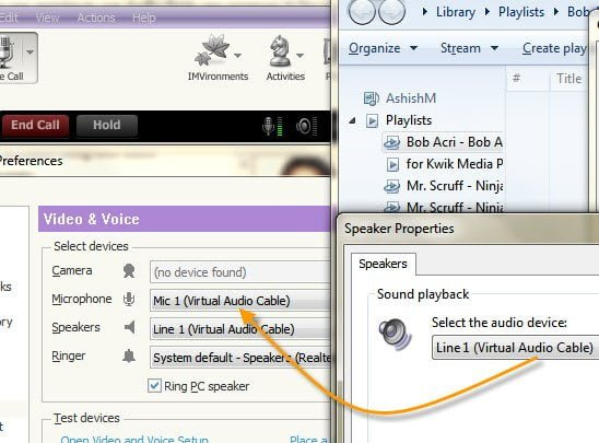 Yahoo Messenger and WMP Audio Settings