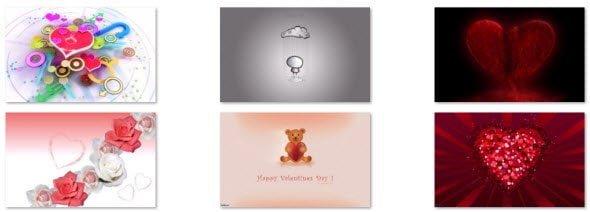 free download Romantic Love Hearts Windows 7 Theme