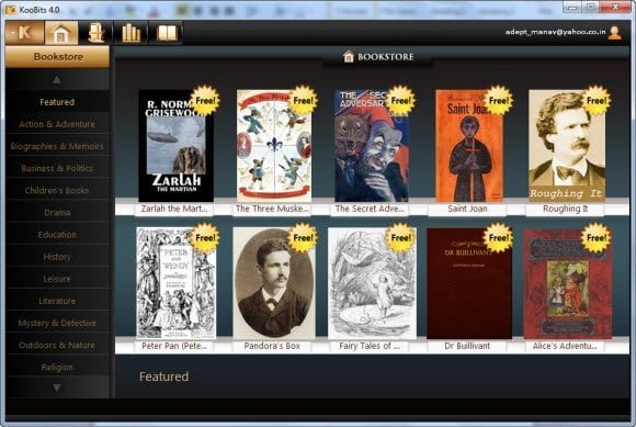 free ebook reader to download and read book from bookstore