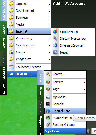 iCloud Menu System