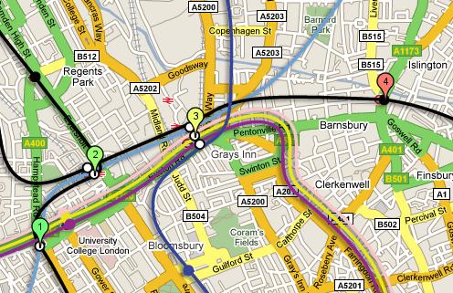 Tube Plan on Google Maps