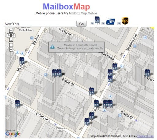 Mailbox Map : Find your nearest Mailbo [ US only ] on