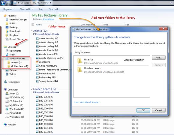 My custom Windows 7 library