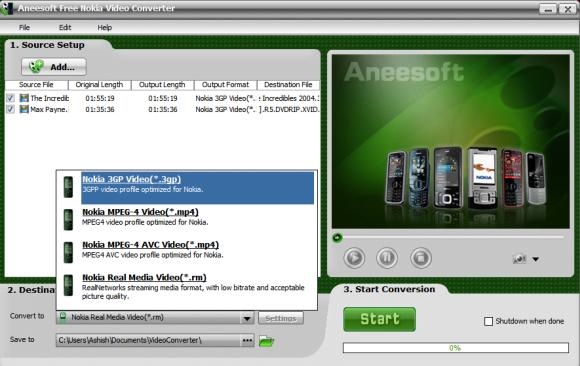 Convert multiple videos to Nokia Format