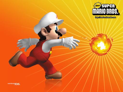 Super Mario : Throwing the Fire ball