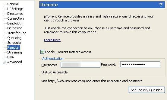 uTorrent Web UI